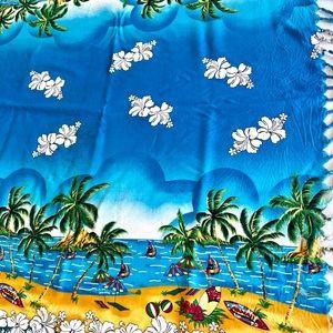 BEACH theme TABLECLOTH / party decor 60x40 VIBRANT